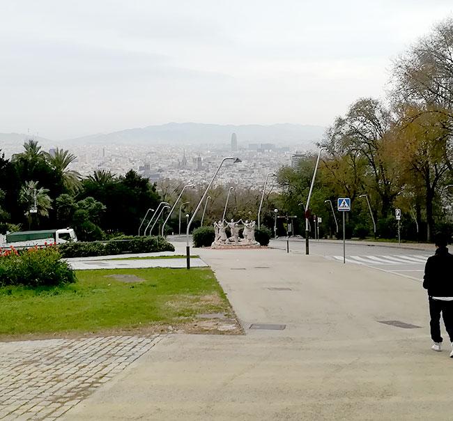 バルセロナモンジュイック展望台