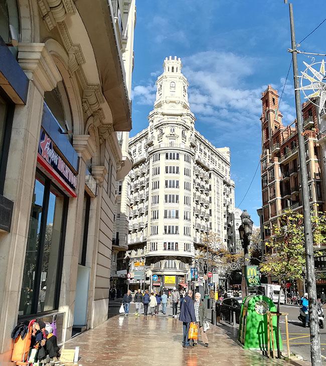 バレンシアの街並み