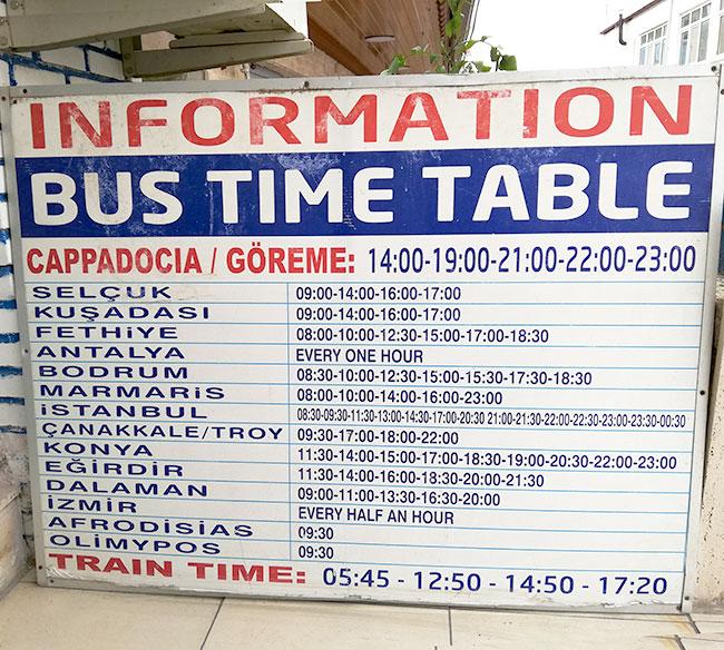 パムッカレからバスでイスタンブール
